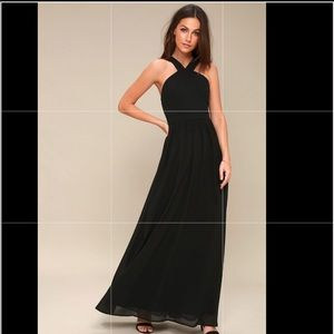 Long black maxi dress size M